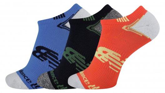 Носки NO SHOW RUN SOCK 3 PAIR New Balance. Цвет: мульти