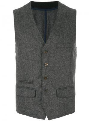 Приталенный жилет Weber +. Цвет: серый