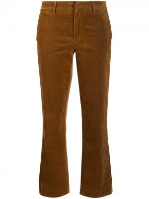Укороченные брюки кроя слим 7 For All Mankind. Цвет: нейтральные цвета