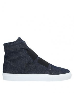 Высокие кеды и кроссовки ALBERTO FERMANI. Цвет: синий