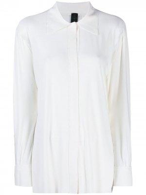 Рубашка с потайной застежкой на пуговицы Norma Kamali. Цвет: белый