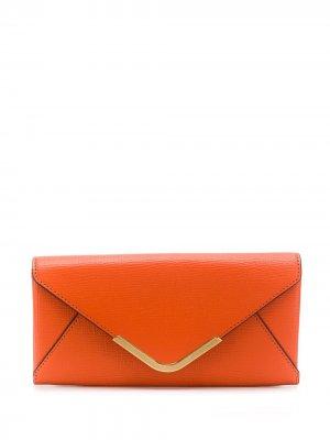 Классический кошелек Postbox Anya Hindmarch. Цвет: оранжевый