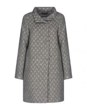Пальто ENRICO COVERI. Цвет: серый
