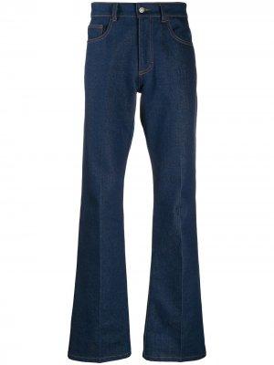 Расклешенные джинсы AMI Paris. Цвет: синий