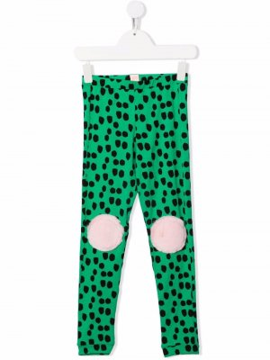 Легинсы Funny Legs с узором в горох WAUW CAPOW by BANGBANG. Цвет: зеленый