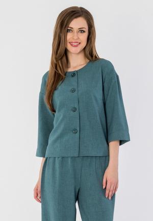 Жакет S&A Style. Цвет: бирюзовый