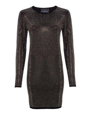 Платье Benoye 44 черный+серебристый John Richmond. Цвет: черный+серебристый