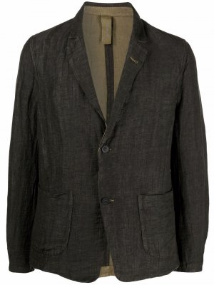 Однобортный пиджак Transit. Цвет: зеленый