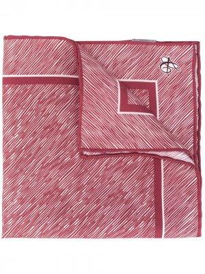 Платок-паше с принтом Canali. Цвет: красный