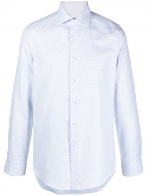 Рубашка на пуговицах Canali. Цвет: белый