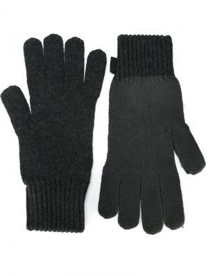 Классические трикотажные перчатки Stone Island. Цвет: серый