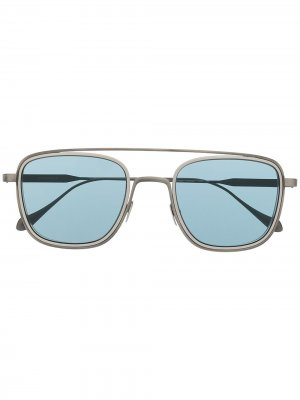 Солнцезащитные очки в квадратной оправе Giorgio Armani. Цвет: серый