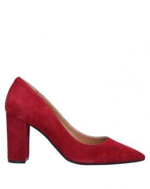 Туфли J|D JULIE DEE. Цвет: красно-коричневый