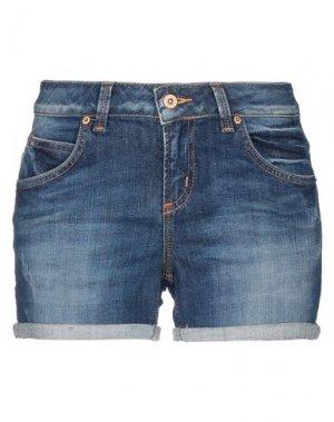 Джинсовые шорты BRIAN DALES. Цвет: синий