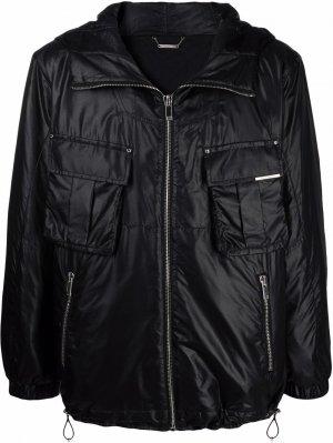 Куртка с капюшоном и карманами Les Hommes. Цвет: черный
