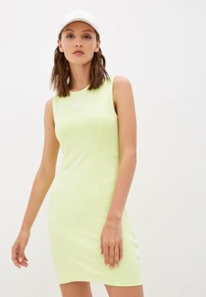 Платье Nike W NSW AIR MIDI DRSS. Цвет: зеленый