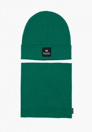 Комплект bodo. Цвет: зеленый