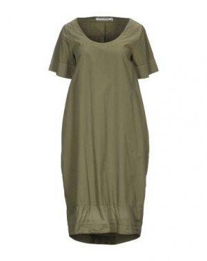 Платье до колена EUROPEAN CULTURE. Цвет: зеленый-милитари