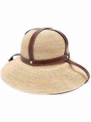 Шляпа с широкими полями Fendi. Цвет: нейтральные цвета