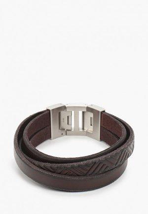 Браслет Fossil JF02999040. Цвет: коричневый