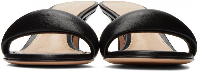 Black Bijoux 55 Mules Gianvito Rossi. Цвет: black
