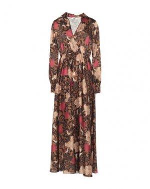 Длинное платье B.YU. Цвет: верблюжий