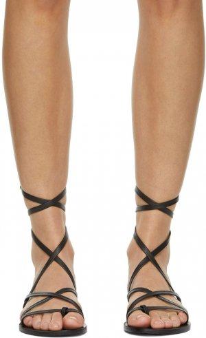 Black Morfi Sandals Ancient Greek. Цвет: black