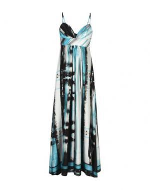 Длинное платье JULIAN KEEN. Цвет: бирюзовый