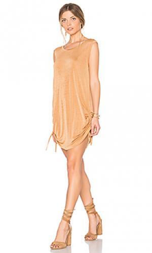 Платье с завязкой desert motel MINKPINK. Цвет: беж