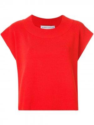 Трикотажная блузка Gloria Coelho. Цвет: красный