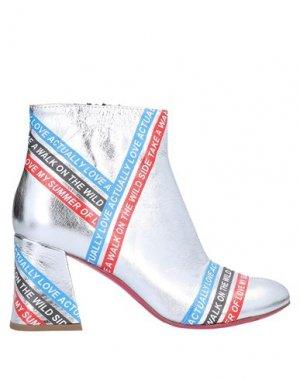 Полусапоги и высокие ботинки PINKO. Цвет: серебристый