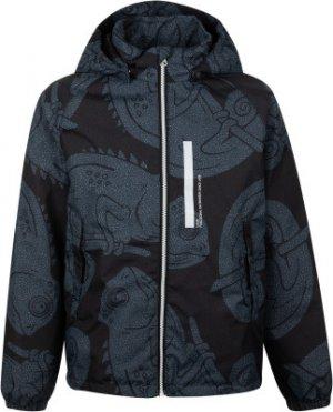 Куртка утепленная для мальчиков Kaspian, размер 116 LASSIE. Цвет: черный