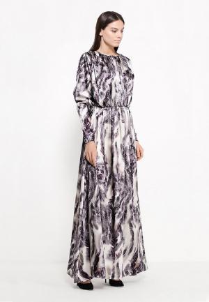 Платье Sahera Rahmani СЕТА. Цвет: разноцветный