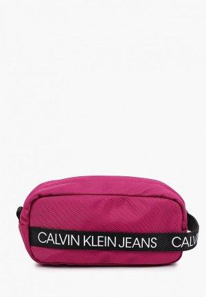 Пенал Calvin Klein Jeans. Цвет: розовый