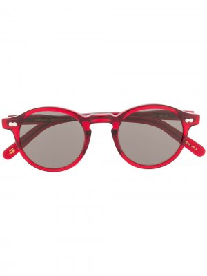 Солнцезащитные очки Miltzen в круглой оправе Moscot. Цвет: красный