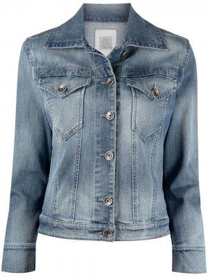 Джинсовая куртка Eleventy. Цвет: синий