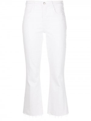 LAgence high-waisted cropped jeans L'Agence. Цвет: белый