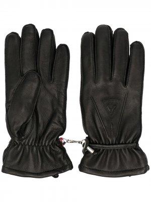 Перчатки из овчины Rossignol. Цвет: черный