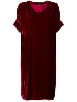Свободное платье в стиле 1990-х Fendi Vintage. Цвет: красный