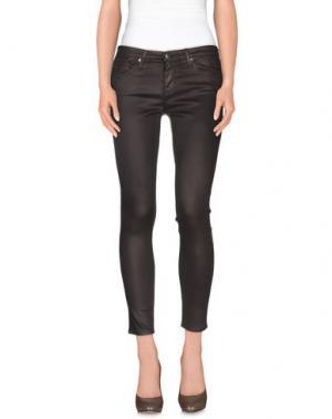 Повседневные брюки AG JEANS. Цвет: темно-коричневый