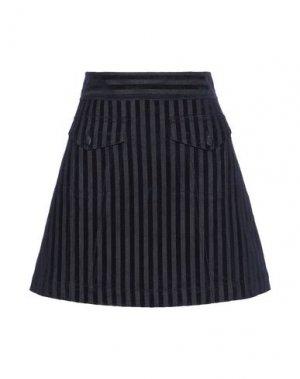 Джинсовая юбка DEREK LAM 10 CROSBY. Цвет: синий