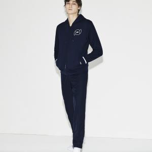 Спортивный костюм Lacoste. Цвет: темно-синий