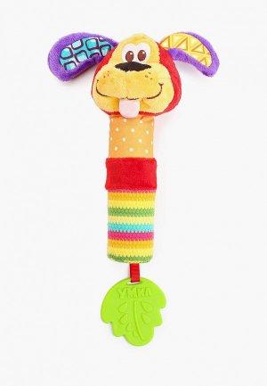 Погремушка Умка Собачка, 19 см.. Цвет: разноцветный