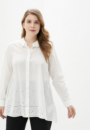 Рубашка Junarose. Цвет: белый