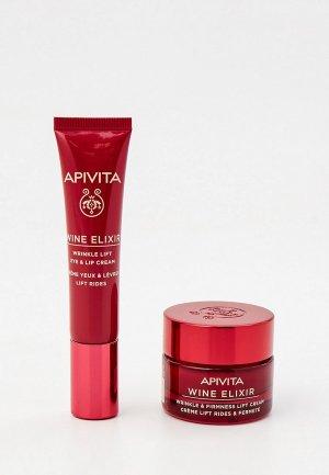 Набор для ухода за лицом Apivita Вайн Эликсир, Крем-лифтинг против морщин кожи вокруг глаз и губ 15мл + Крем лица. Цвет: прозрачный