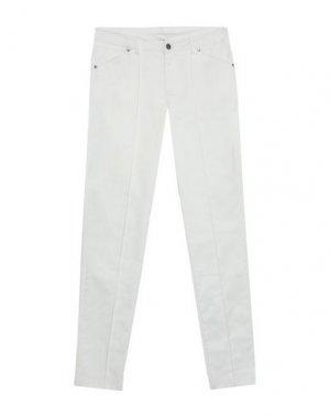 Повседневные брюки FUEGO WOMAN. Цвет: белый
