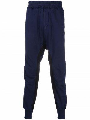 Спортивные брюки с низким шаговым швом Haider Ackermann. Цвет: синий