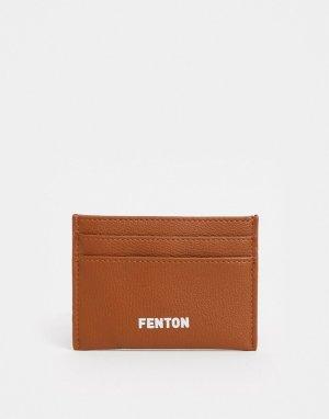 Коричневая визитница из искусственной кожи -Коричневый цвет Fenton