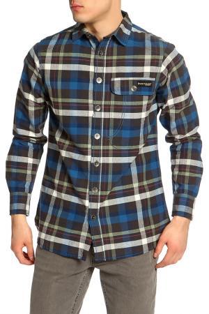 Рубашка Dunlop. Цвет: blue