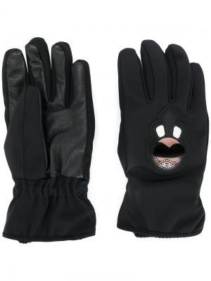 Перчатки Karl Fendi. Цвет: черный